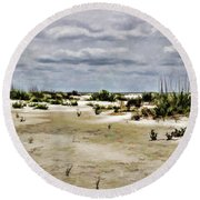 Dreamy Dunes Round Beach Towel by Roberta Byram