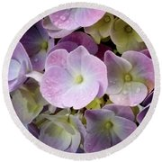 Round Beach Towel featuring the photograph Dreamy Hydrangea by Mimulux patricia no No