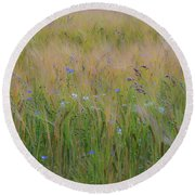 Dreamy Meadow Round Beach Towel