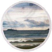 Dreamy Seascape Round Beach Towel by Andrea Barbieri