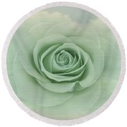 Dreamy Vintage Floating Rose Round Beach Towel by Judy Palkimas