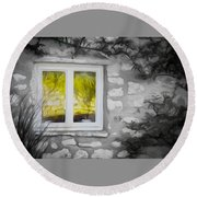 Dreamy Window Round Beach Towel