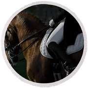Round Beach Towel featuring the photograph Dressage D5284 by Wes and Dotty Weber