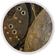 Round Beach Towel featuring the photograph Dressed For Battle D6722 by Wes and Dotty Weber