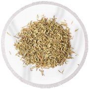 Dried Herbs And Spices Round Beach Towel