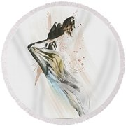 Drift Contemporary Dance Round Beach Towel by Galen Valle