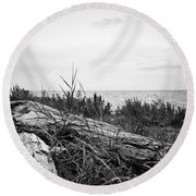 Drift Wood Round Beach Towel by Karen Stahlros