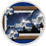 Round Beach Towel featuring the photograph Drifting Away by Shane Bechler