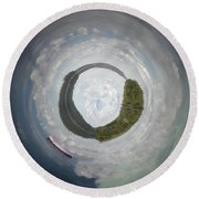 Drifting From Reality Round Beach Towel