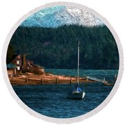Drifting Round Beach Towel by Timothy Hack