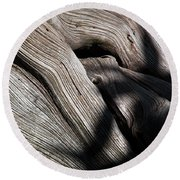 Driftwood Abstract Round Beach Towel