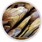 Driftwood Edges Round Beach Towel