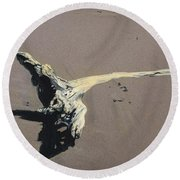 Coastal Driftwood Round Beach Towel