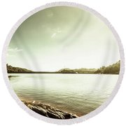 Driftwood Lakes Round Beach Towel