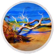Driftwood Round Beach Towel by Ludwig Keck