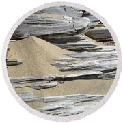 Driftwood Round Beach Towel by Michelle Calkins