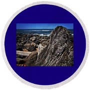 Driftwood Rocks Water Round Beach Towel