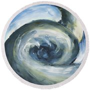 Round Beach Towel featuring the painting Driftwood by Yulia Kazansky