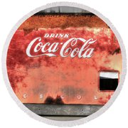 Drink Ice Cold Coca Cola Round Beach Towel