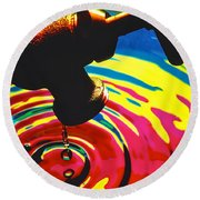 Dripping Faucet Round Beach Towel
