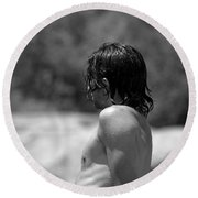 Dripping With Desire Round Beach Towel