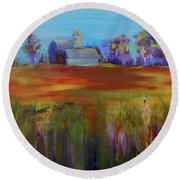 Drive-by View Round Beach Towel