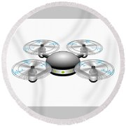 Drone Round Beach Towel