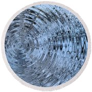 Round Beach Towel featuring the photograph Drop In The Bucket by Kristin Elmquist
