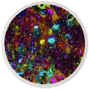 Droplet Abstract Round Beach Towel by Stuart Turnbull