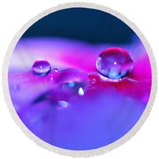 Droplets In Fantasyland Round Beach Towel