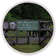 Round Beach Towel featuring the photograph Drove Road To Glen Coe by RKAB Works