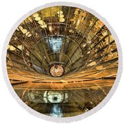 Drowning In Reflections Round Beach Towel