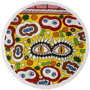 Drugs In The Blood Round Beach Towel