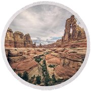 Druid Arch Round Beach Towel