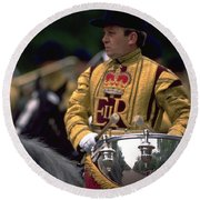 Drum Horse At Trooping The Colour Round Beach Towel