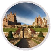 Drummond Castle 2 Round Beach Towel