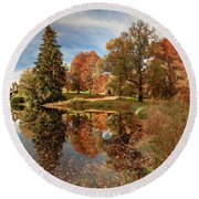 Drummond Castle Garden Round Beach Towel