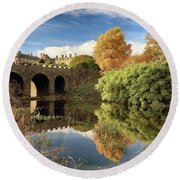 Drummond Garden Autumn Round Beach Towel