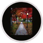 Drury Fall Round Beach Towel