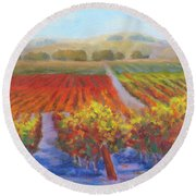 Dry Creek Round Beach Towel
