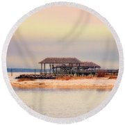 Dry Dock  Round Beach Towel by Melissa Messick