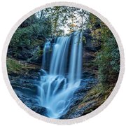 Dry Falls From The Base Round Beach Towel