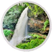 Dry Falls Highlands North Carolina 2 Round Beach Towel