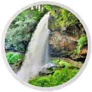 Dry Falls Highlands North Carolina 2 Round Beach Towel
