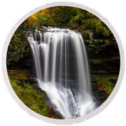 Dry Falls In October  Round Beach Towel