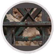 Dry Leaves And Old Steel-iii Round Beach Towel