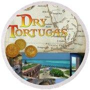 Dry Tortugas Round Beach Towel