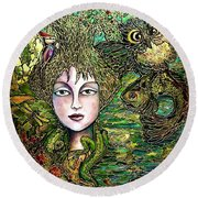 Dryad's Tale Round Beach Towel