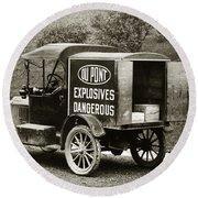 Du Pont Co. Explosives Truck Pennsylvania Coal Fields 1916 Round Beach Towel