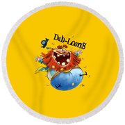Dub-loons Round Beach Towel